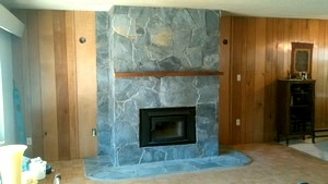 Lake Cowichan Fireplace Renovation Gallery