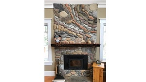 North Cowichan Spiral Stone Fireplace Gallery