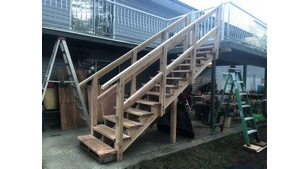 Carpentry - Maple Bay Deck Stairs Project