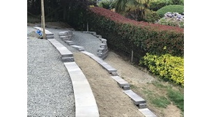 Rockwork - Maple Bay Allan Block Retaining Wall Project Part 2