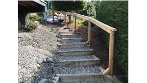 Carpentry - Maple Bay Sloping Lot Stairs Project