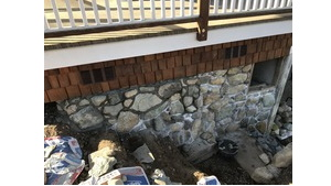 Somenos Deck Rock Wall Project